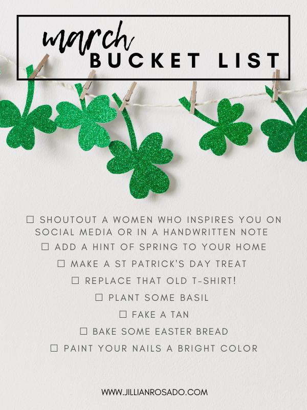 March Bucket List St. Patrick's Day Ideas
