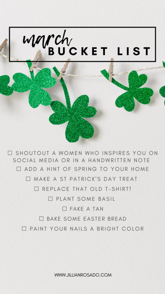March Bucket List St. Patrick's Day Ideas