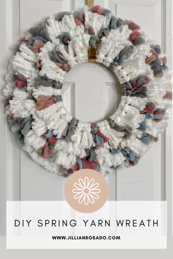 DIY Spring Yarn Wreath