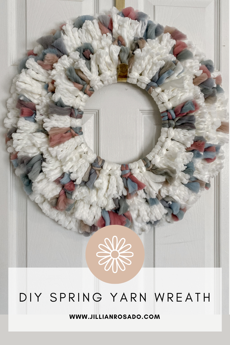 DIY Spring Yarn Boho Wreath