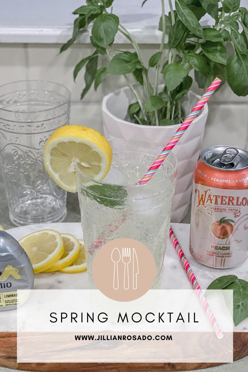 Spring Mocktail Cocktail Mio Lemonade Waterloo Peach Seltzer