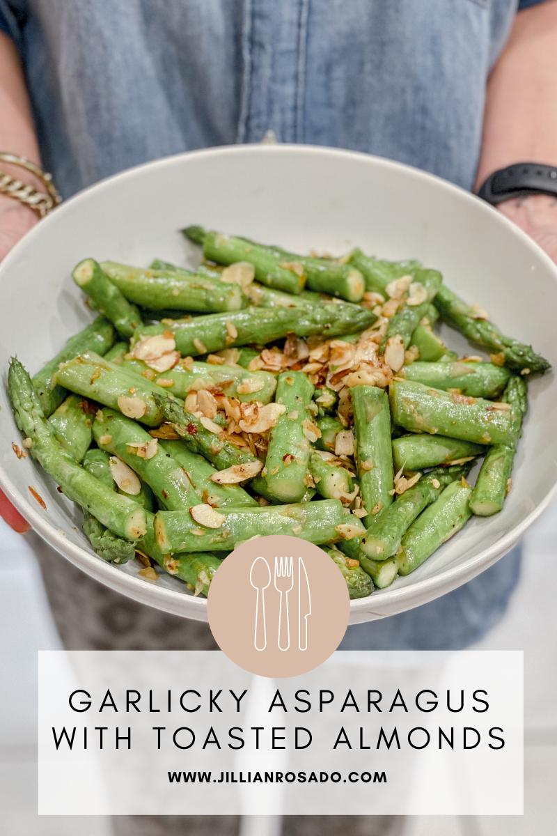 Sauteed Asparagus Garlic Almonds E2M