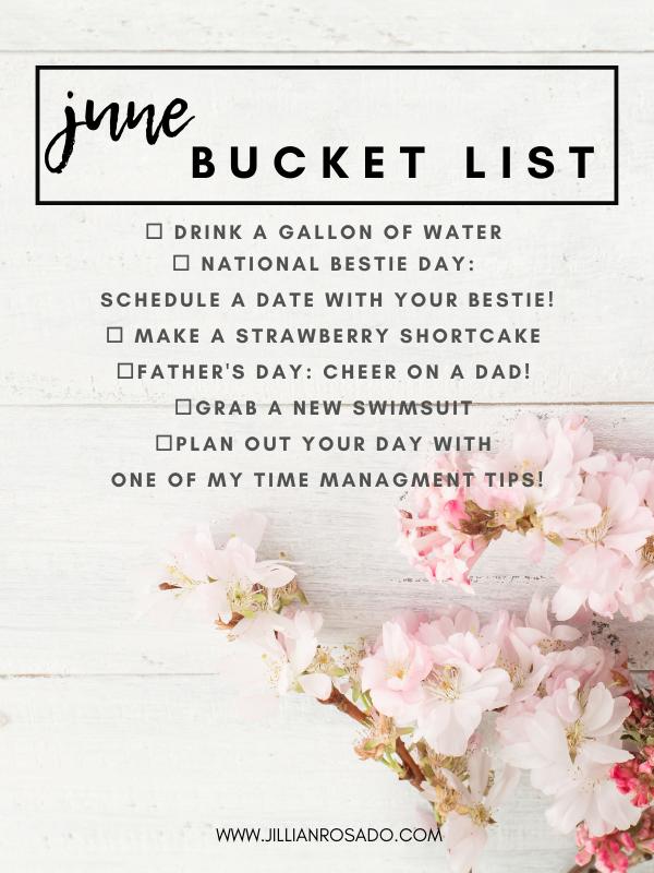 June 2021 Bucket List