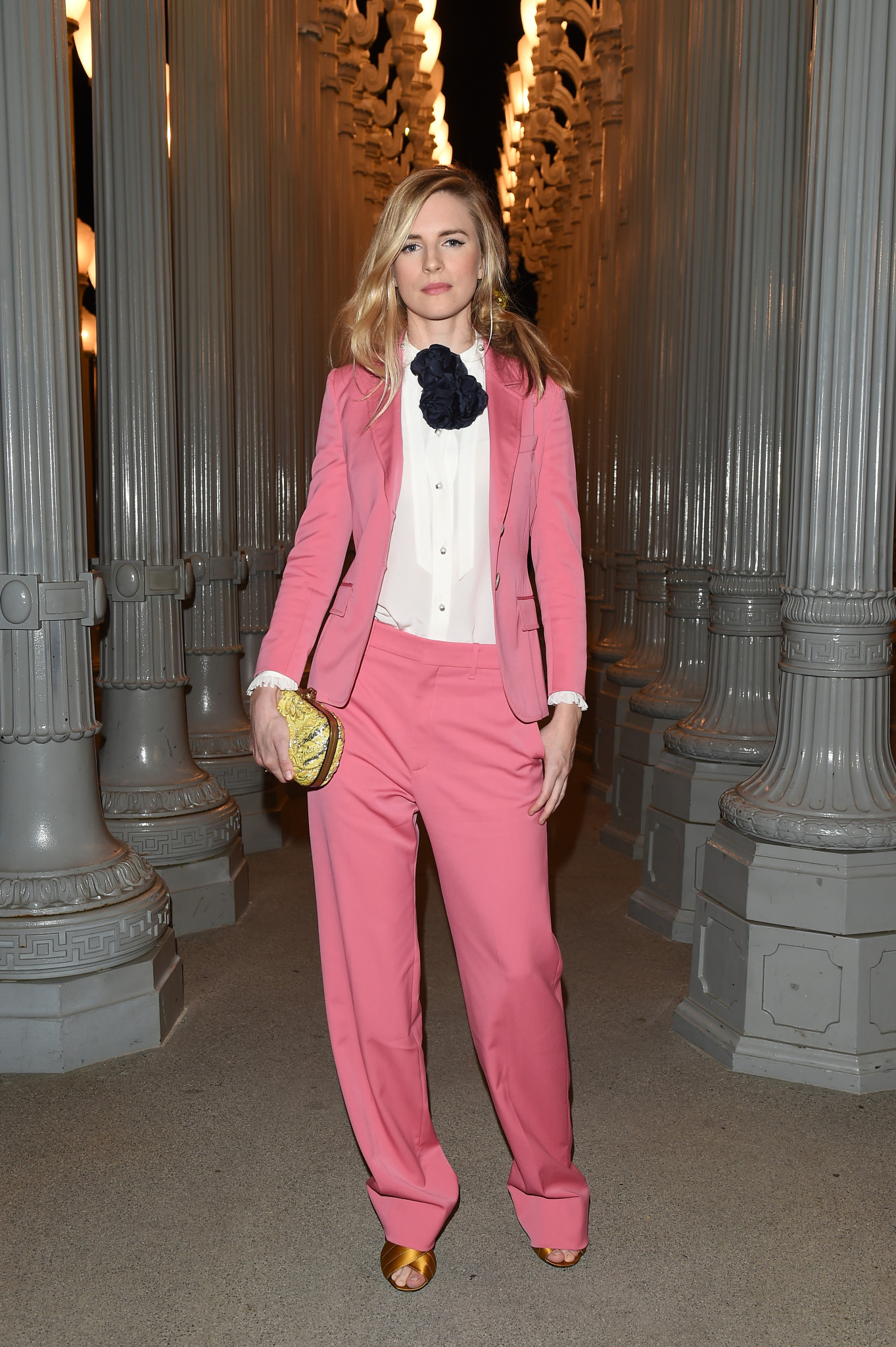 LOS ANGELES, CA - NOVEMBER 07: Actress Brit Marling attends LACMA 2015 Art+Film Gala Honoring James Turrell and Alejandro G Iñárritu, Presented by Gucci at LACMA on November 7, 2015 in Los Angeles, California.  (Photo by Venturelli/Getty Images For LACMA)