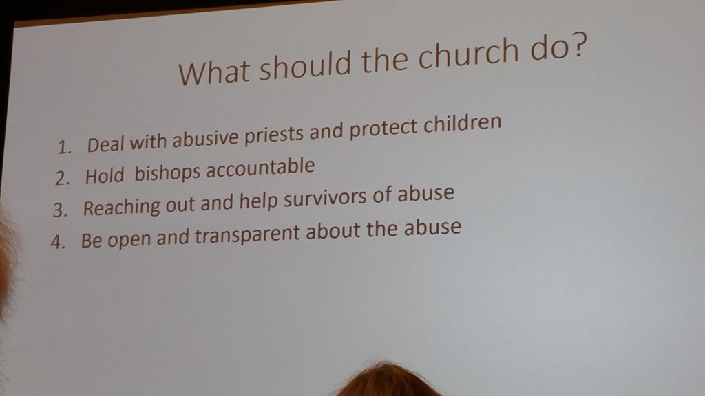 Talk by Fr. Thomas Reese, SJ - Outline of 4 things the church should do