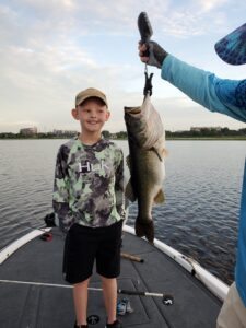 9 year old with a 7 pound orlando bass