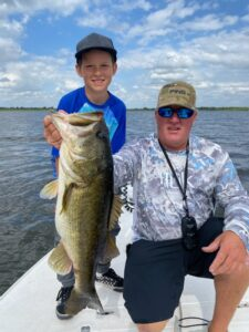 Kid with a 9 pound bass