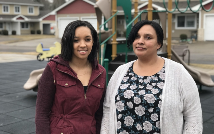 Financial Support Worker Sophia Bond and Leona