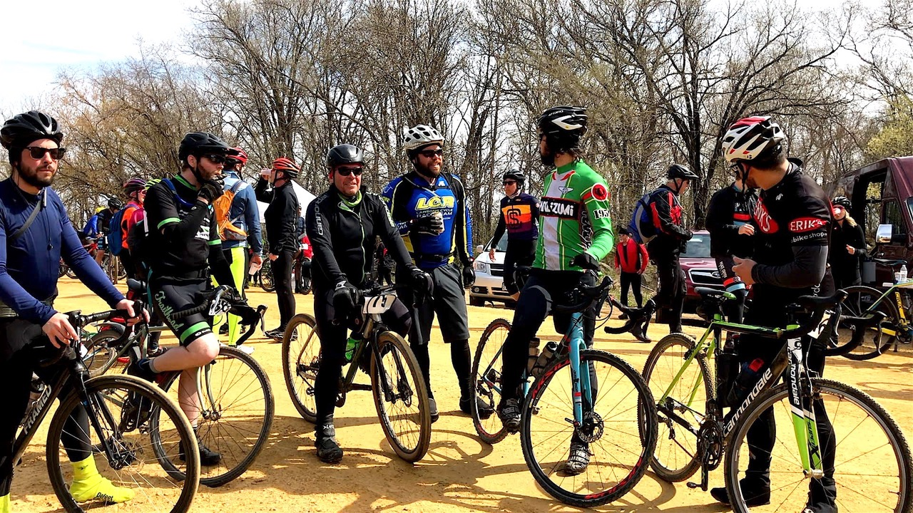 A group of bikers standing at the Miesville FiftySix
