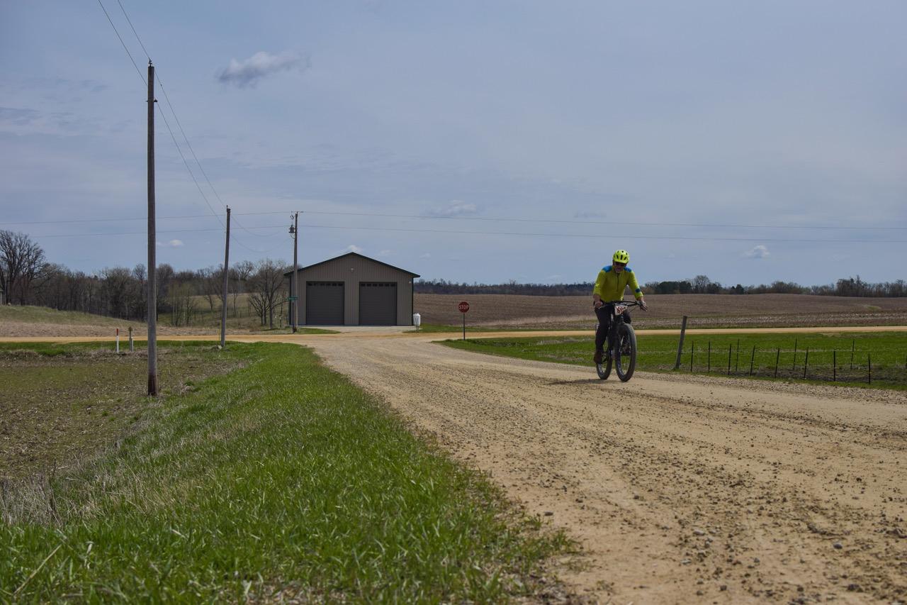 A solo Miesville FiftySix biker