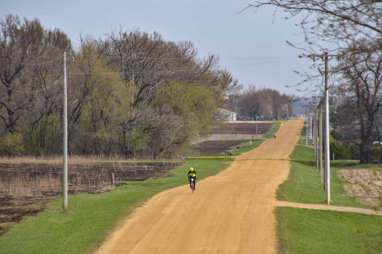 A single biker on the Miesville FiftySix trails