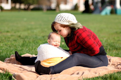 young mother charts safe future
