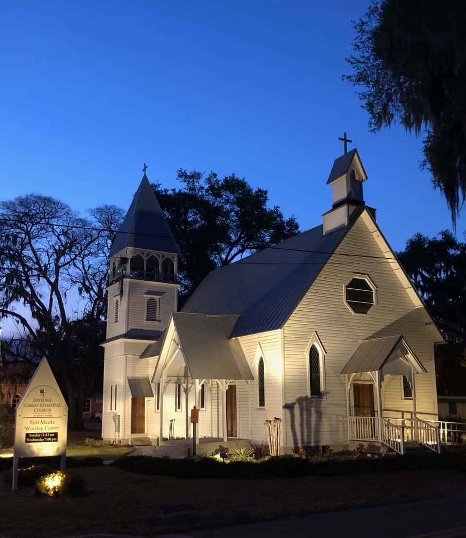 Christ Church at night