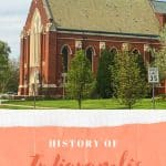 An image of an old brick church and text that says History of Indianapolis Churches