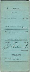 Figure 1. Cover of final divorce decree