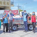 正誠慈善會捐贈自走鼓風式噴藥消毒車  執行環境消毒協助防疫保障社區衛生安全