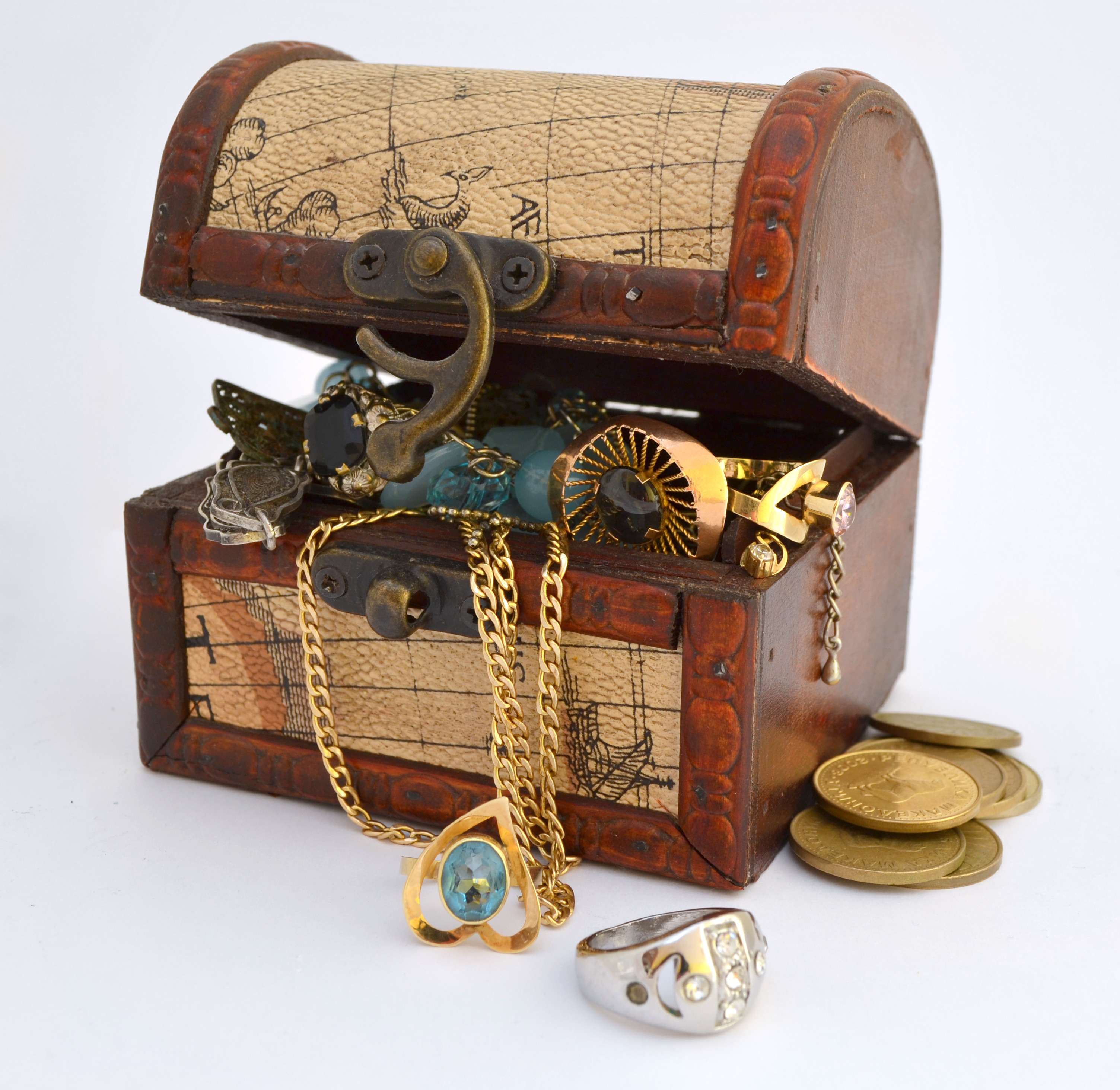 jewelry in a jewelry box of treasures