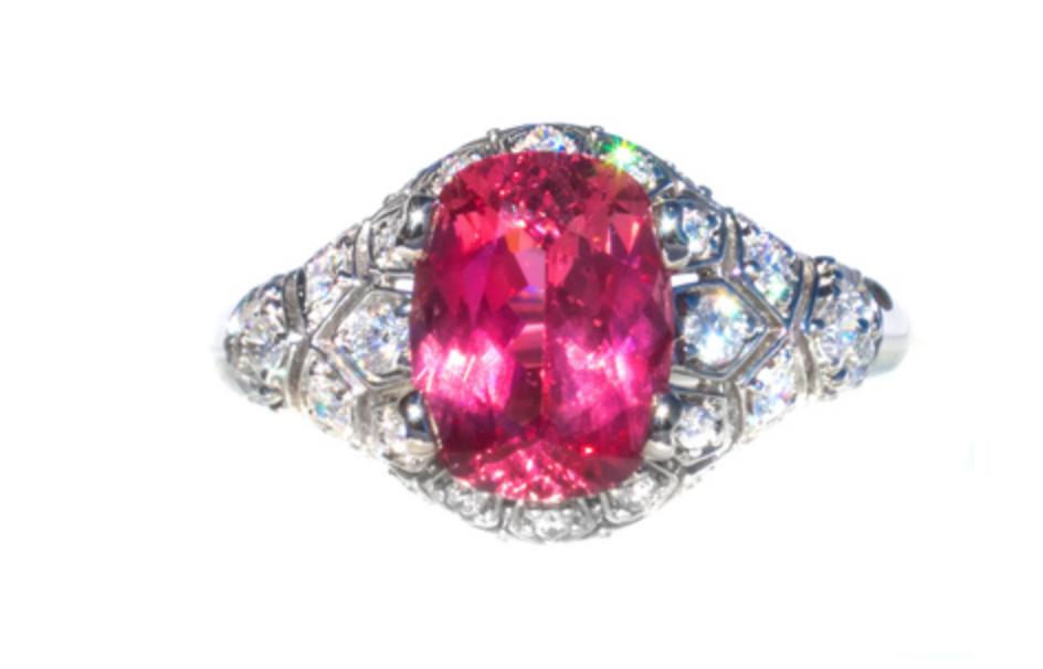 pink gemstone ring