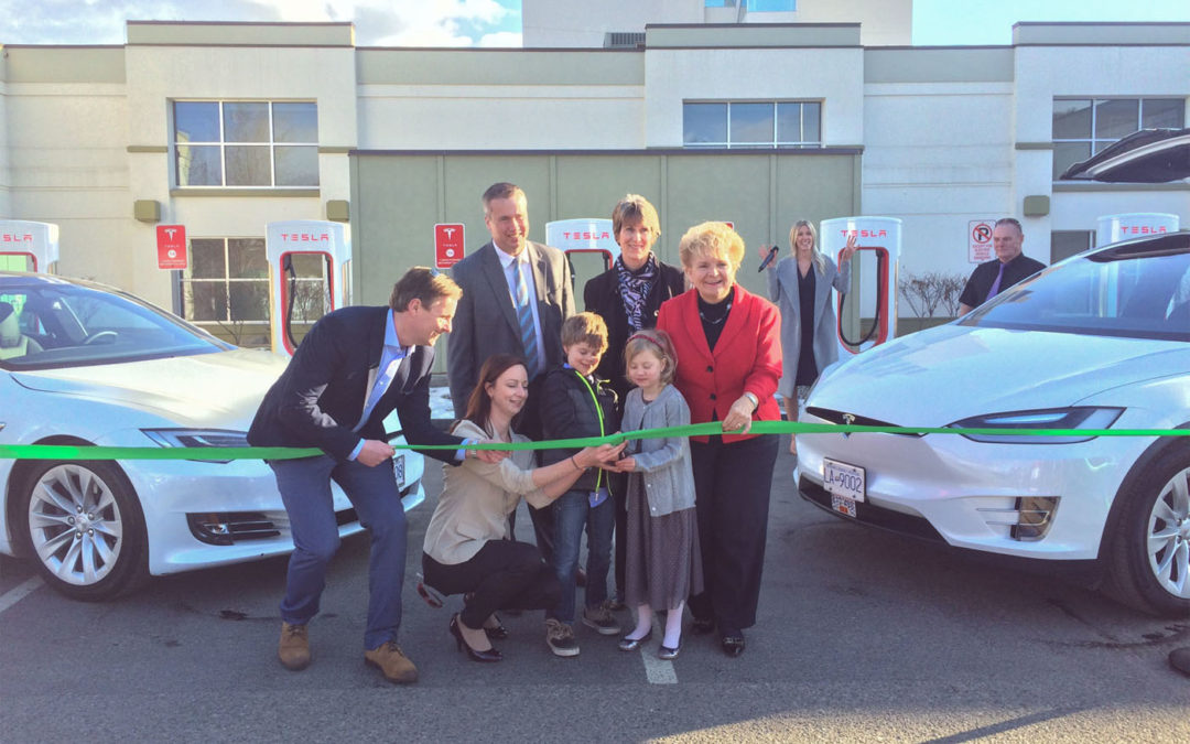 Tesla Taxi Company Launches Service at Green Kelowna Hotel