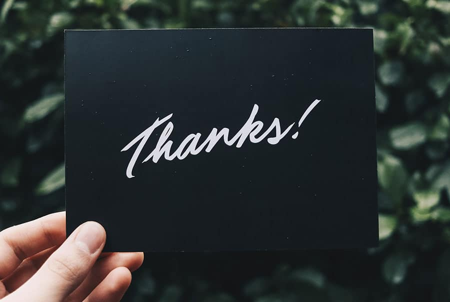Thank you card for healthcare providers from Current Taxi