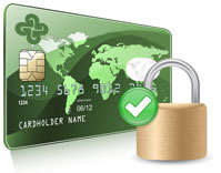 A GASCU credit card with a lock on top