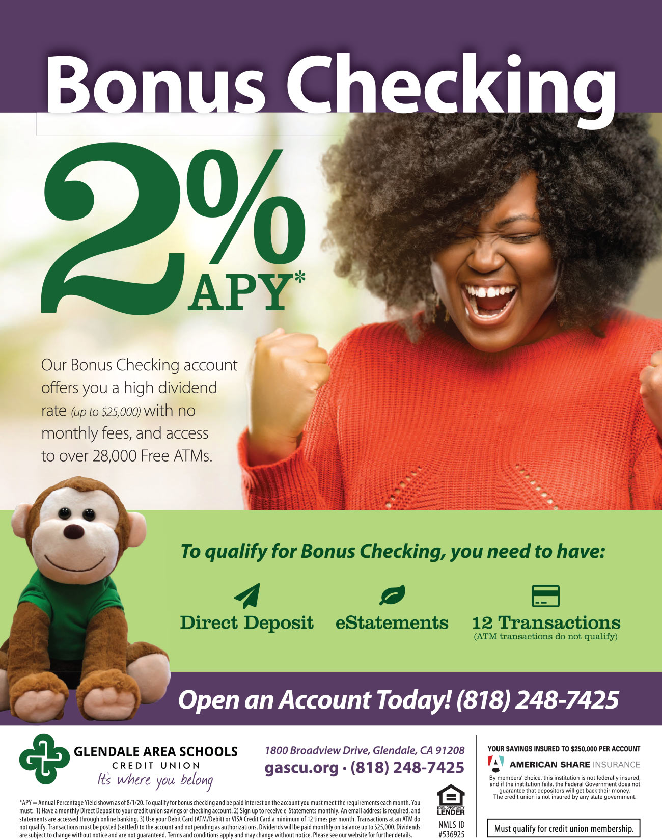 Bonus Checking