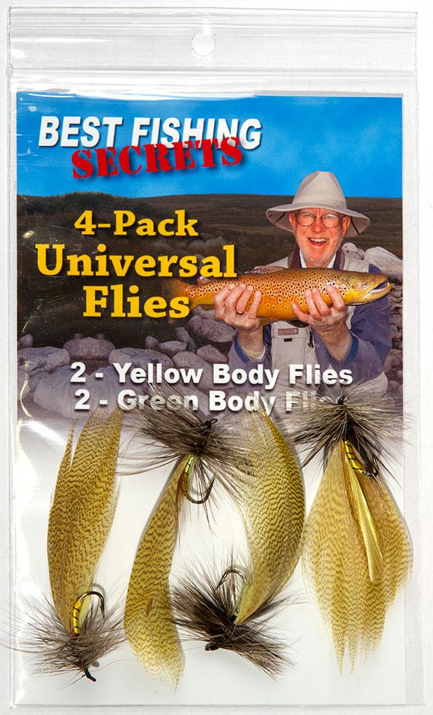 4-Pack Universal Flies