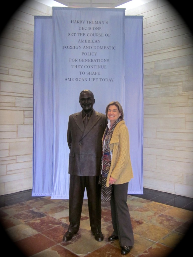Day Three: Give 'Em Hell, Harry.  A life-sized Harry Truman at his most impressive library.