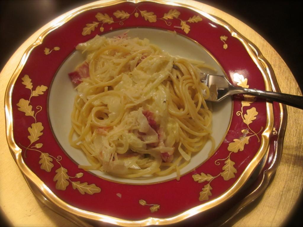Spaghetti Carbonara – DORIE GOES ITALIAN (It's French Fridays)