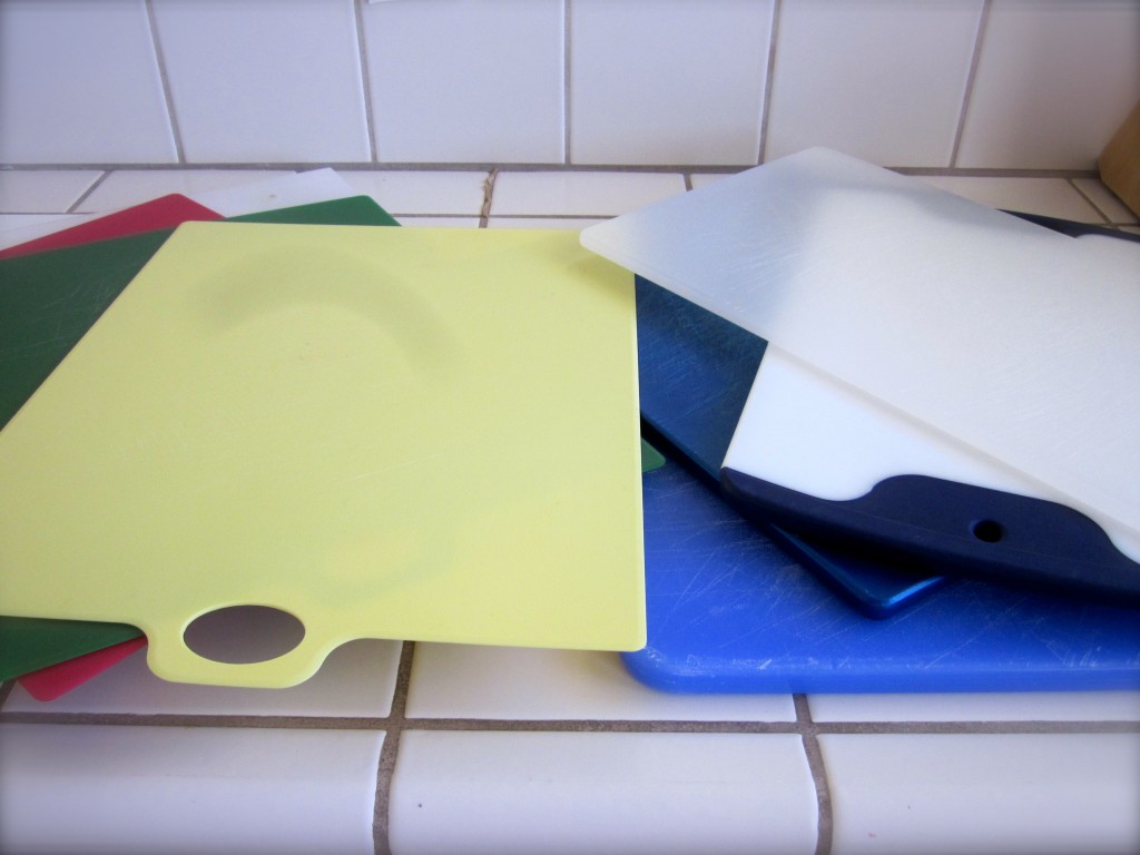 Having found ten cutting boards in my rental kitchen, I'm thinking of a garage sale.