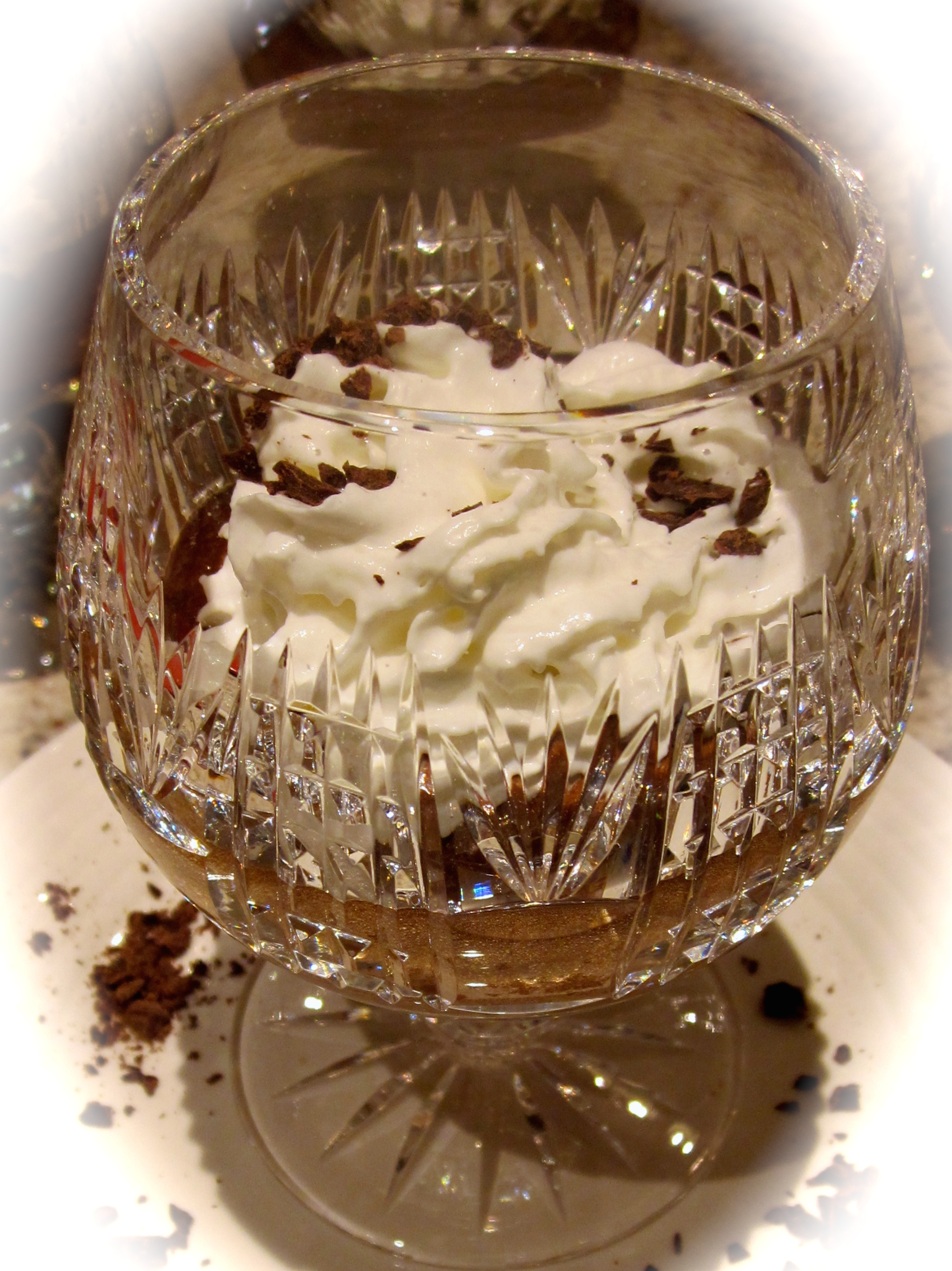 Although we didn't have time to let the mousse sit in the fridge for an hour before decorating, we still produced a pretty dessert.