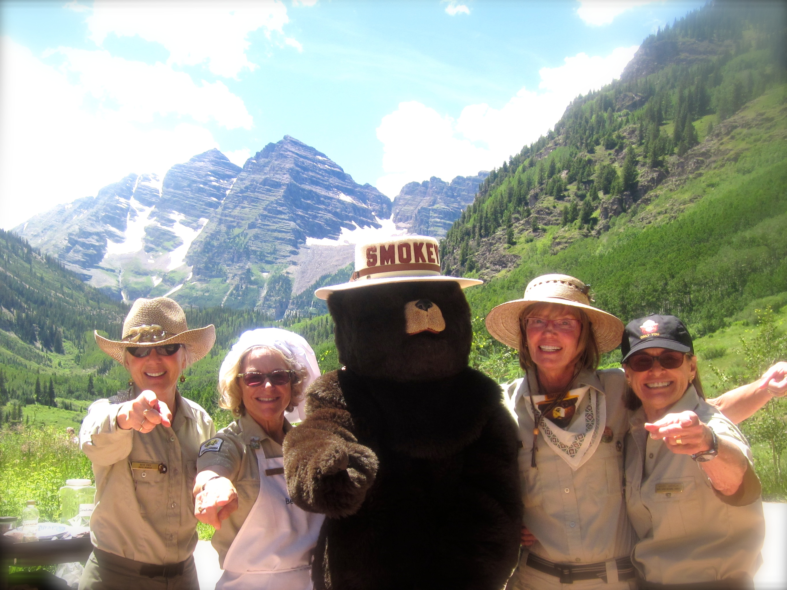 Celebrating  the 50th Anniversary of the Wilderness Act with the magnificent Maroon Bells as a background.