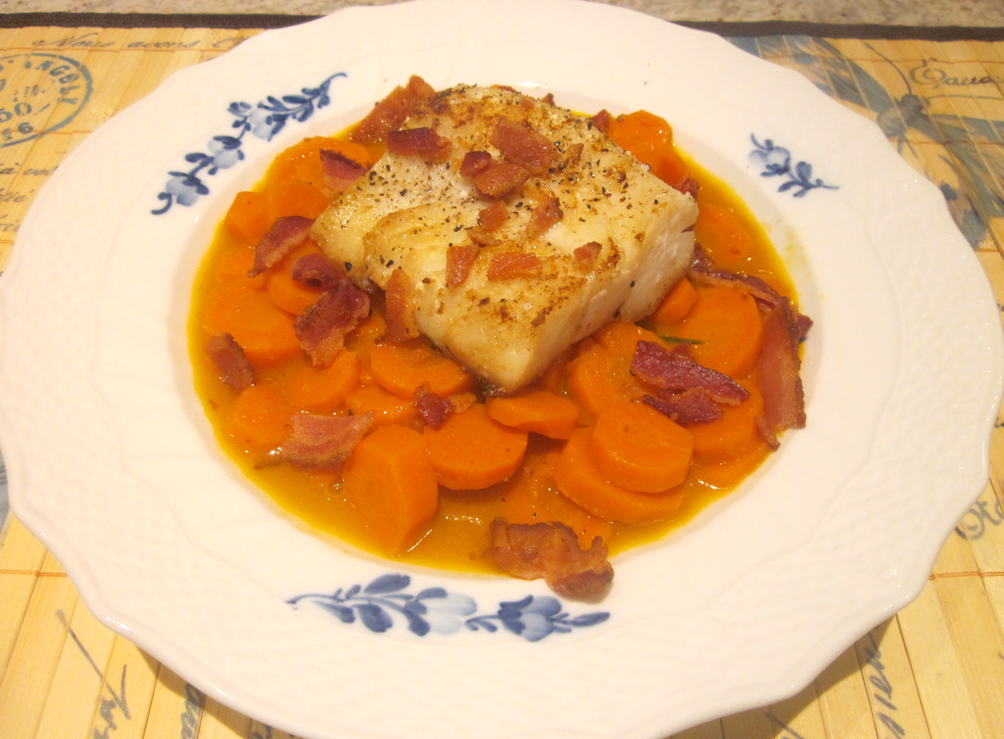 Pacific Cod with Double Carrots