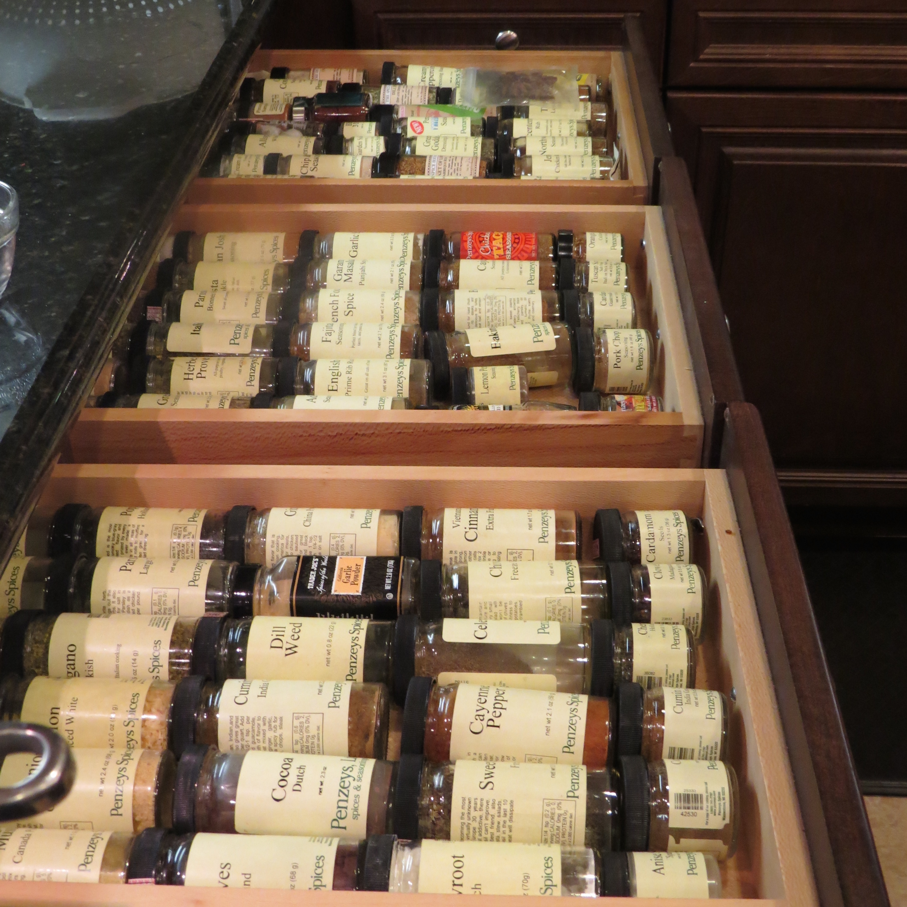 Spice Envy: Susan and John's Inventory.