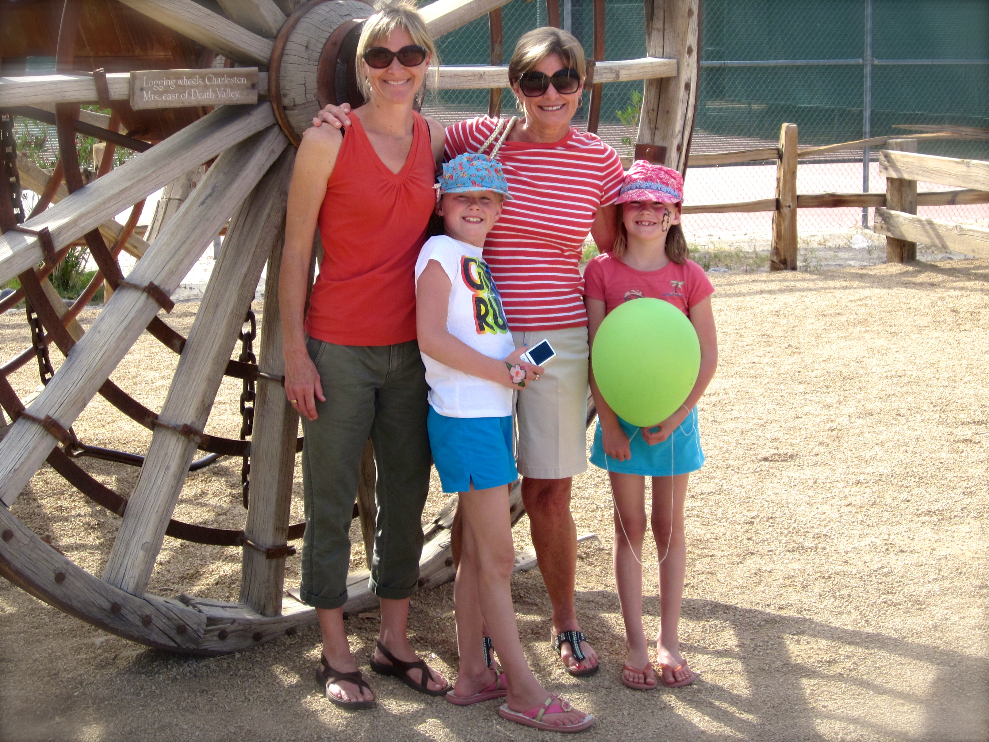 Emma (9) in 2011, the year she announced she was a Vegetarian. Clara (7) is on the right.  Death Valley National Park