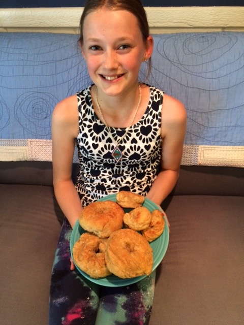 Clara's first-time-ever bagels and pretzels