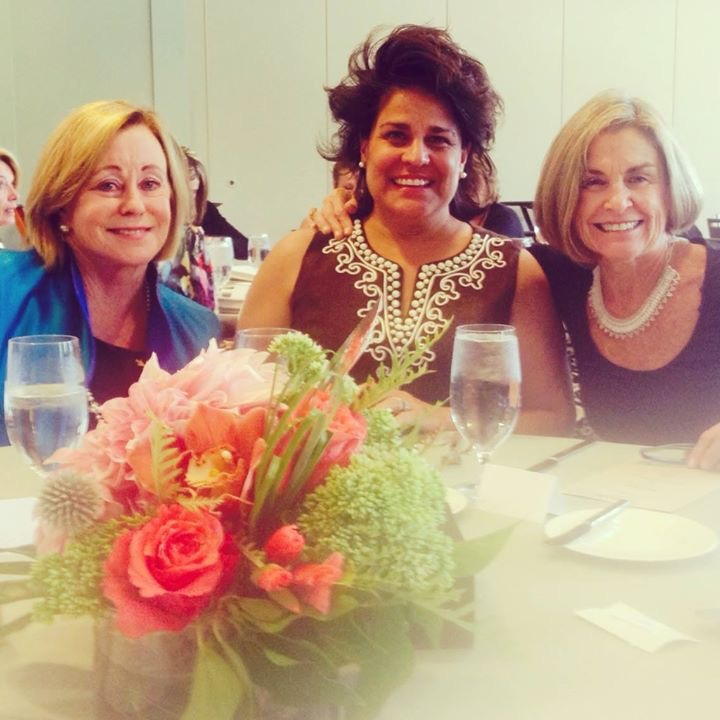 SINCE RETURNING TO ASPEN OUR SILVERKING DRIVE NEIGHBOR, BLANCA O'LEARY (middle), HAS ALWAYS  INCLUDED ME IN NEIGHBORHOOD FUNCTIONS & HOLIDAYS. SHE NEVER FORGETS ME. HERE WE'RE CELEBRATING VAIL'S LITERACY PROJECT'S 25TH ANNIVERSARY AT A LOVELY LUNCHEON HOSTED BY OUR VAIL FRIEND, JANE LOWERY.