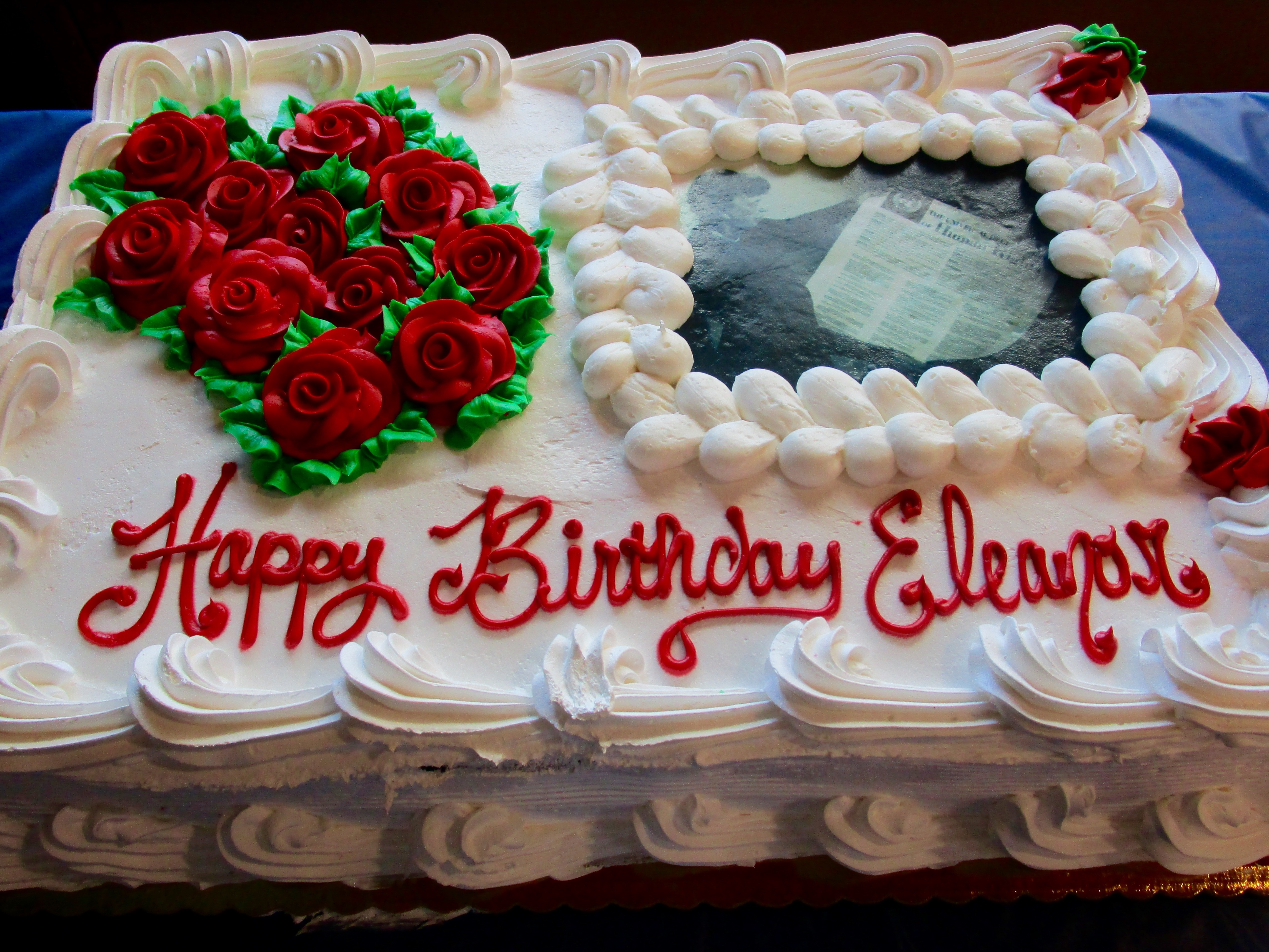 OCTOBER 11th WAS ELEANOR ROOSEVELT'S 131ST BIRTHDAY. WE PARTICIPATED IN A GRAVESIDE MEMORIAL CEREMONY AND THEN JOINED EVERYONE FOR A CELEBRATION AND BIRTHDAY CAKE.