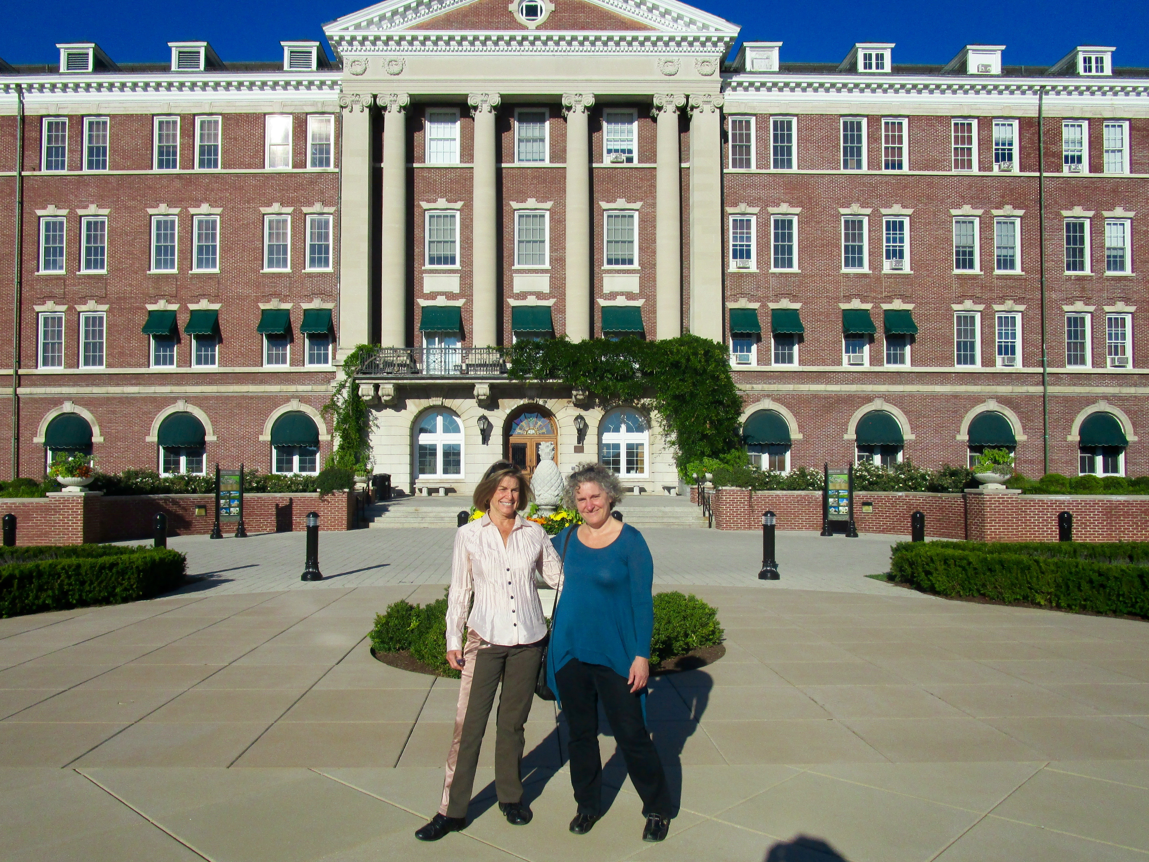 BETSY AND I RETURNED ON THE NEXT DAY TO TOUR THE VERY BEAUTIFUL CIA CAMPUS.