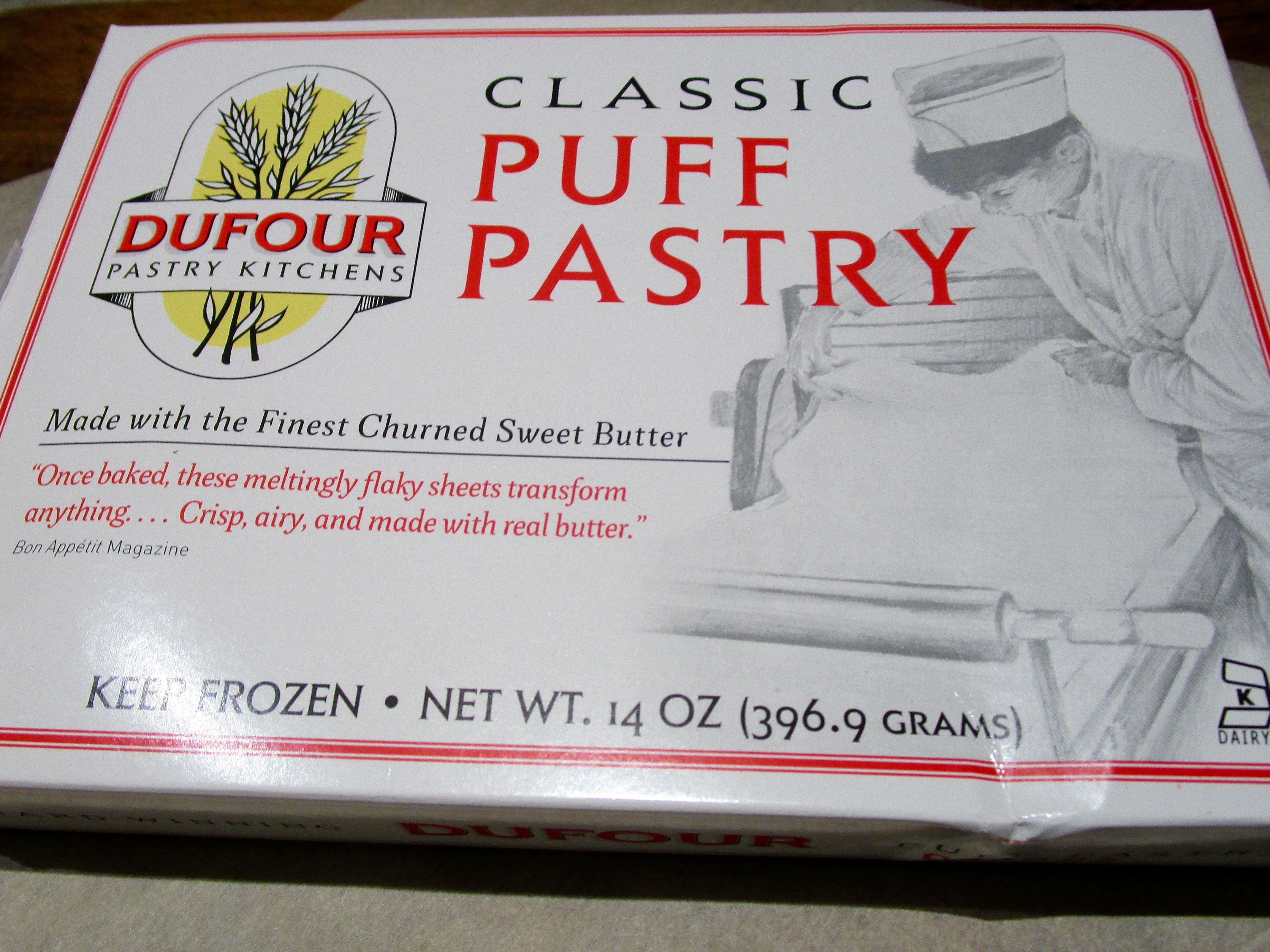 """MY PUFF PASTRY RULE HAS BECOME THAT IF I CAN'T FIND DUFOURS, I DON""""T MAKE A RECIPE WITH PUFF PASTRY. IT IS THE BEST, IN MY OPINION, AND, BETTER YET, ALWAYS WORKS."""