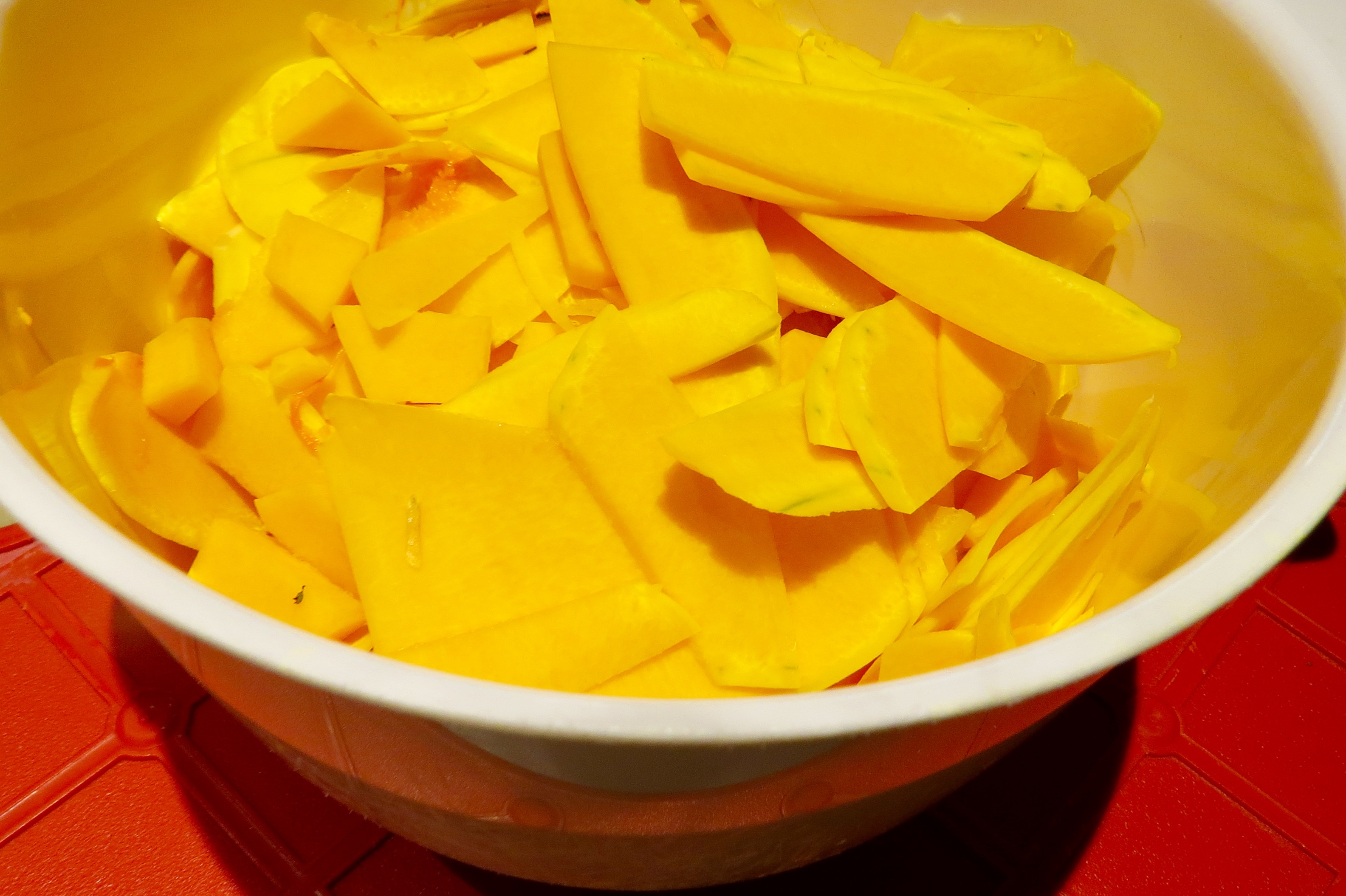 THE SQUASH, THINLY SLICED