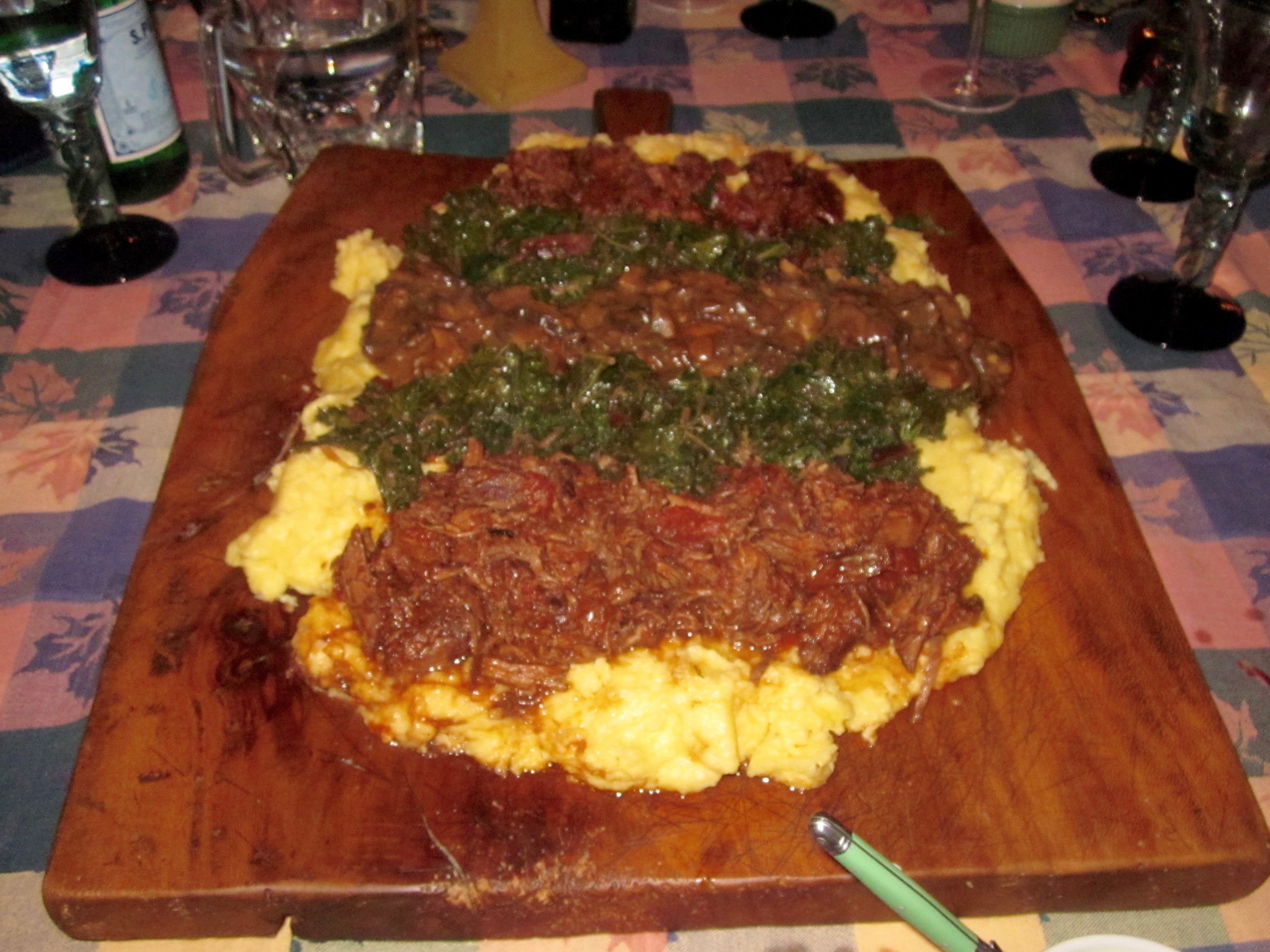 Polenta with 3 different ragus