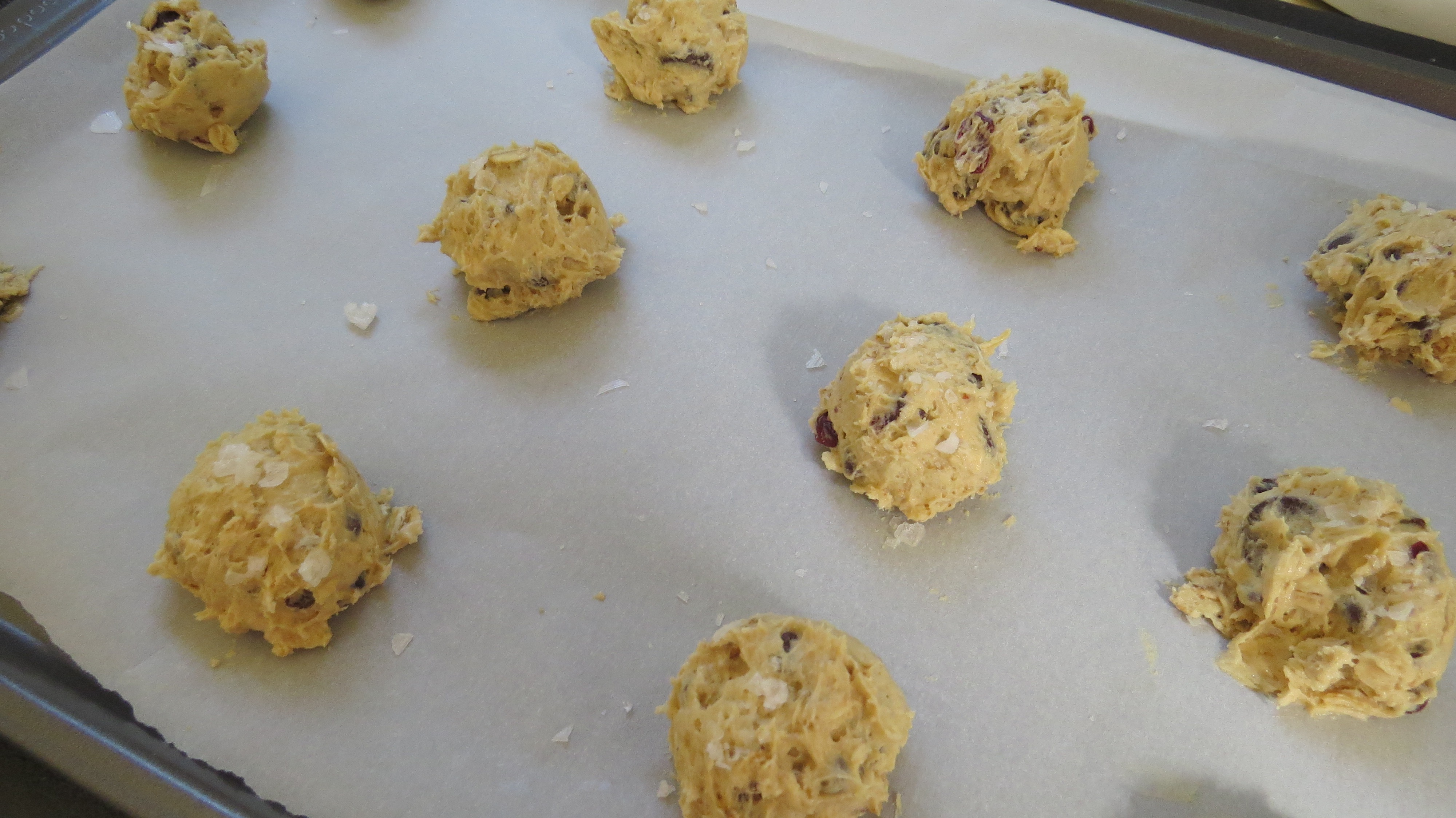 If you bake cookies often, please try a cookie scoop. It makes baking so much easier.