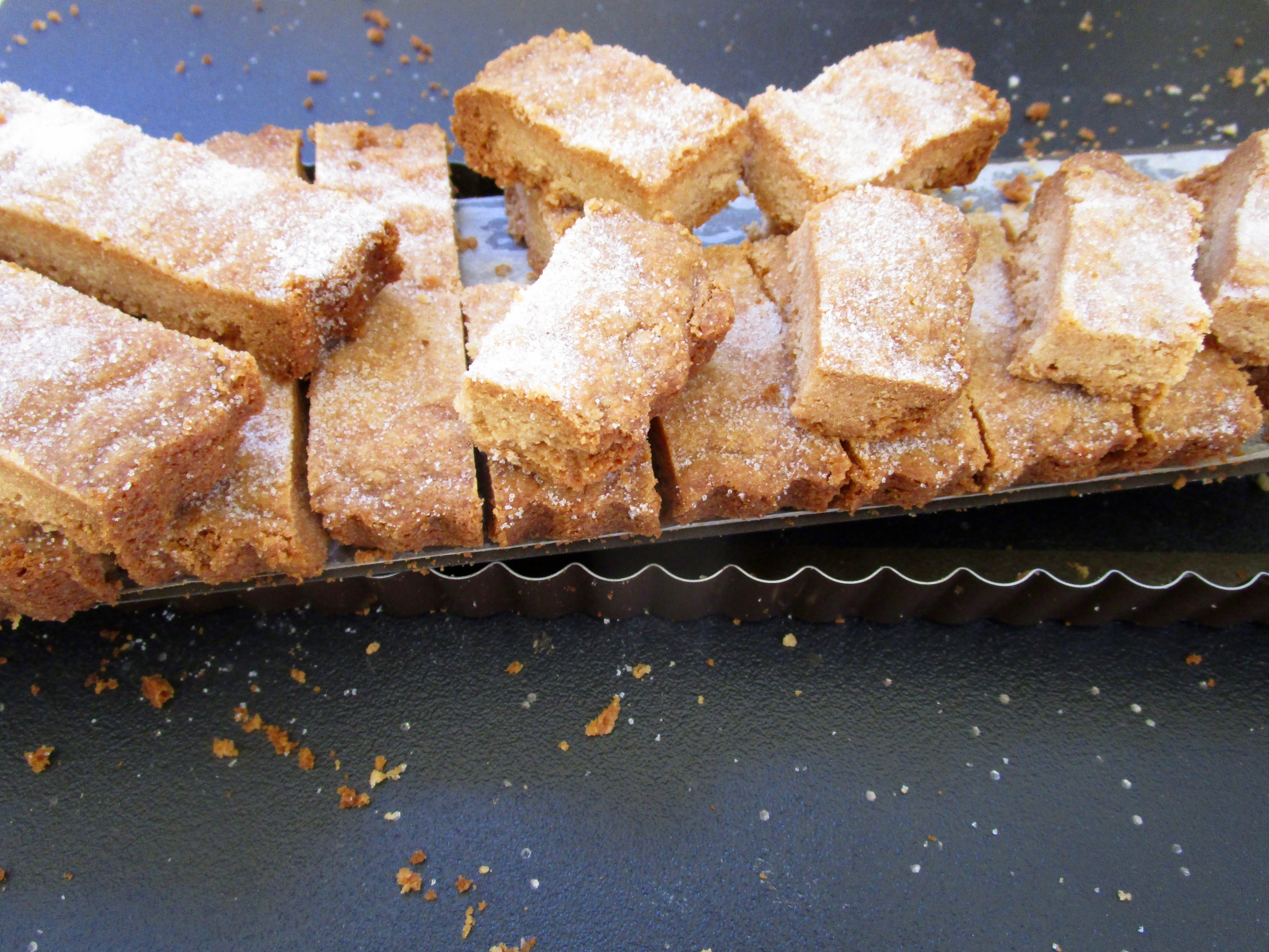 I used my oblong tart pan for these bars but any over-safe container will work.
