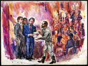 CC BY Image courtesy of The Courtroom Sketches of Ida Libby Dengrove, University of Virginia Law Library