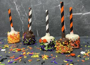 Halloween Witches Fingers   Chocolate Covered Pretzels