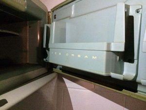 Ice Cream & Juice in Old Refrigerator