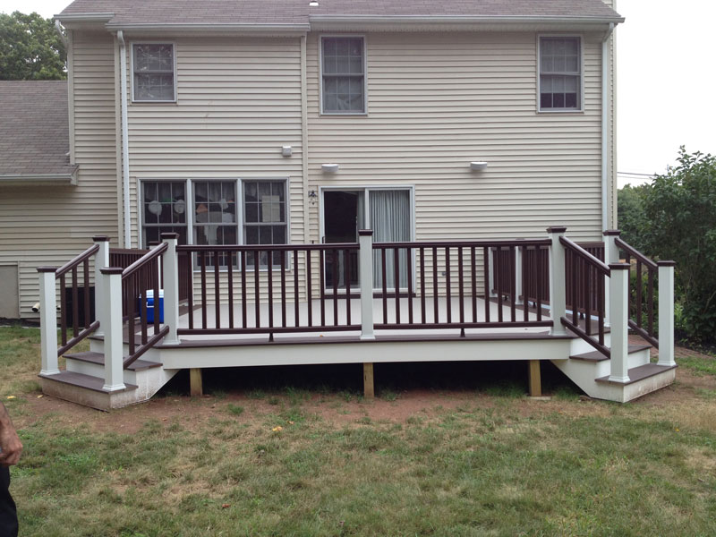 Deck with Double Staircase