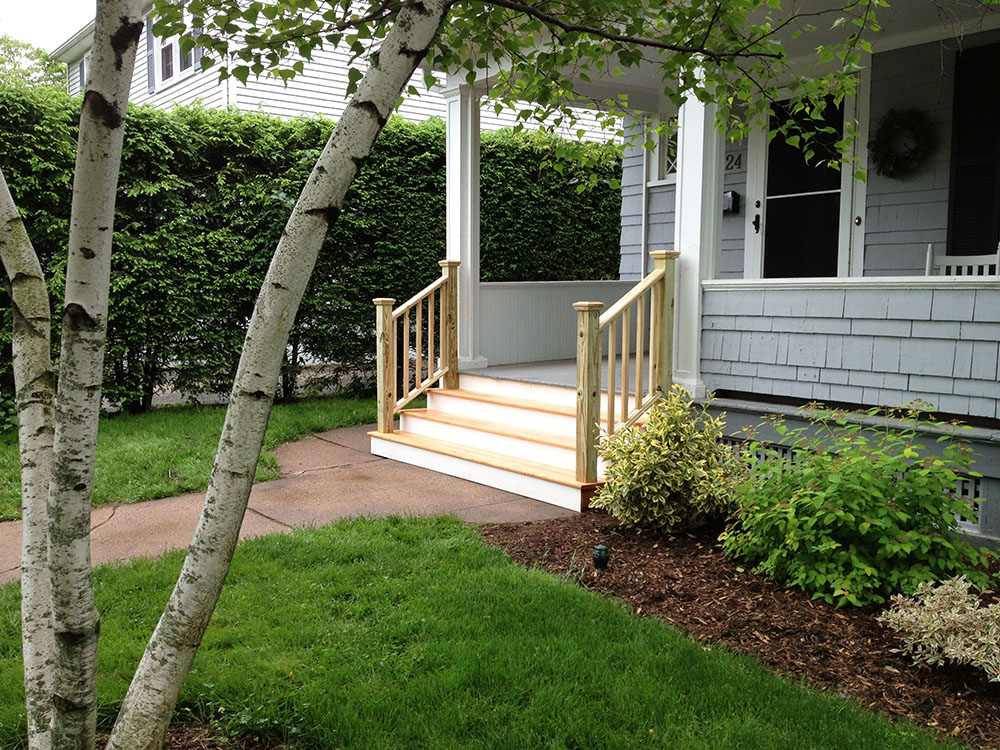 Stairs off Porch Remodel