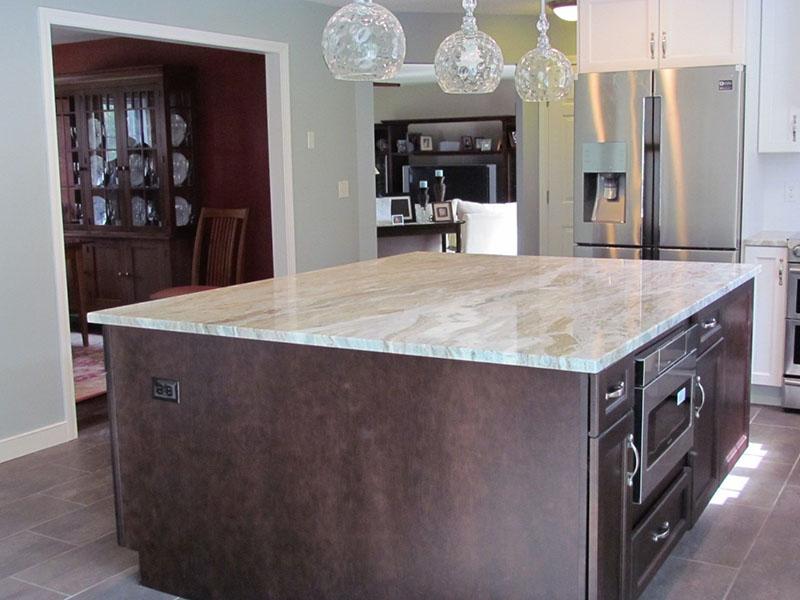 Center Island Installation in Kitchen